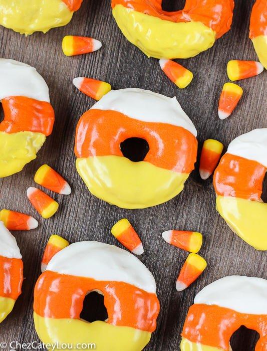 halloween desserts candy corn donut