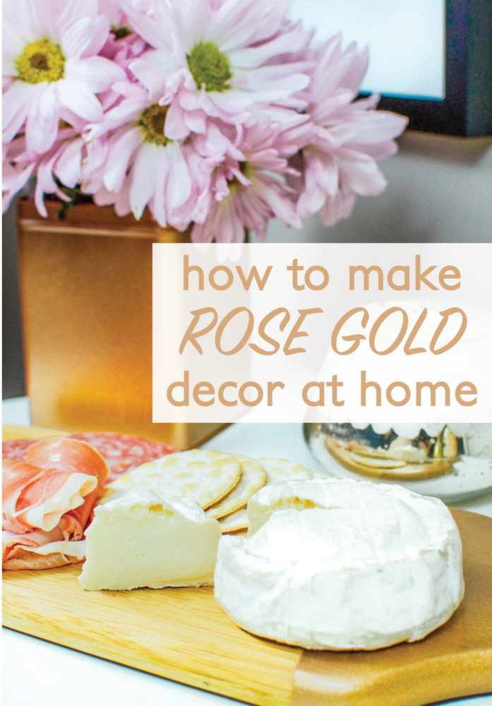 How to Make Rose Gold Decor at Home and save yourself money. Using Rust-oleum metallic spray, this is an easy DIY.