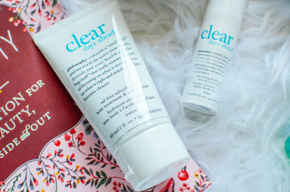 Suffering from adult acne? Check out my thoughts on the Philosophy Clear Days Ahead collection and what products made the cut.
