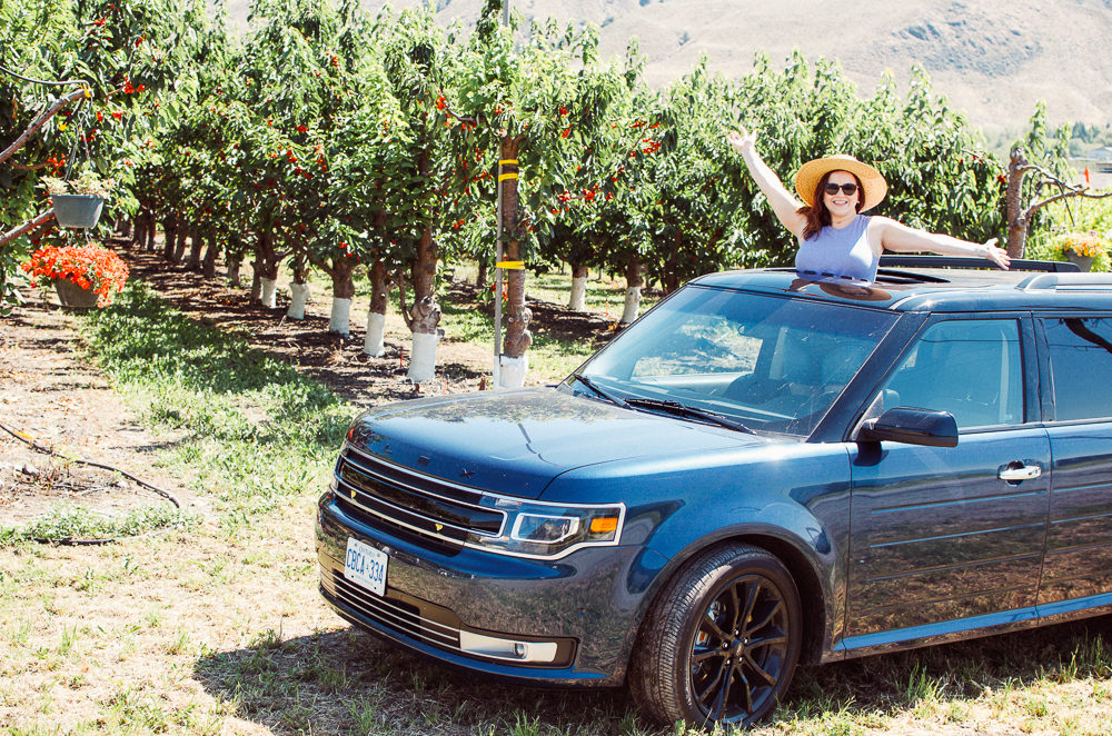 We took a 2018 Ford Flex for our road trip to Osoyoos. It was techy, roomy and met all our needs for our summer road trip.