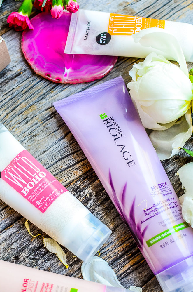 Easy healthy hair tips to help protect your tresses while on your adventures this summer and the latest products from Matrix Canada.