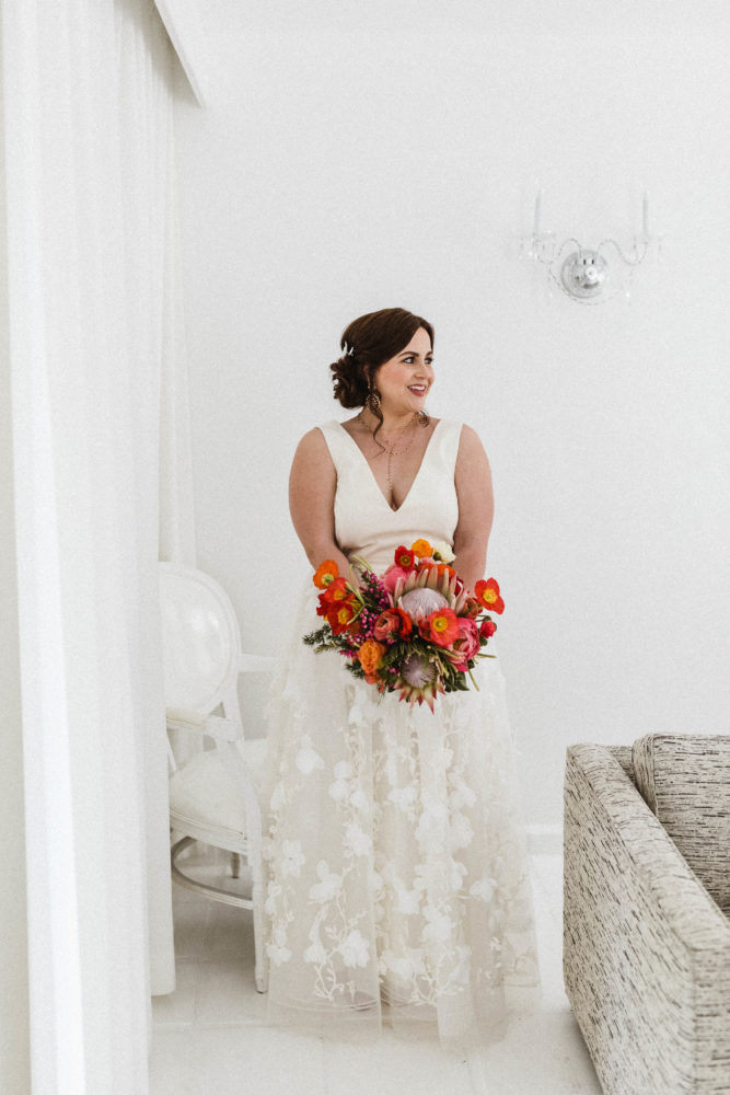 Alexandra Grecco Bridal Dress   Our Palm Springs Wedding Part 2   The day of: Preparations to the Ceremony