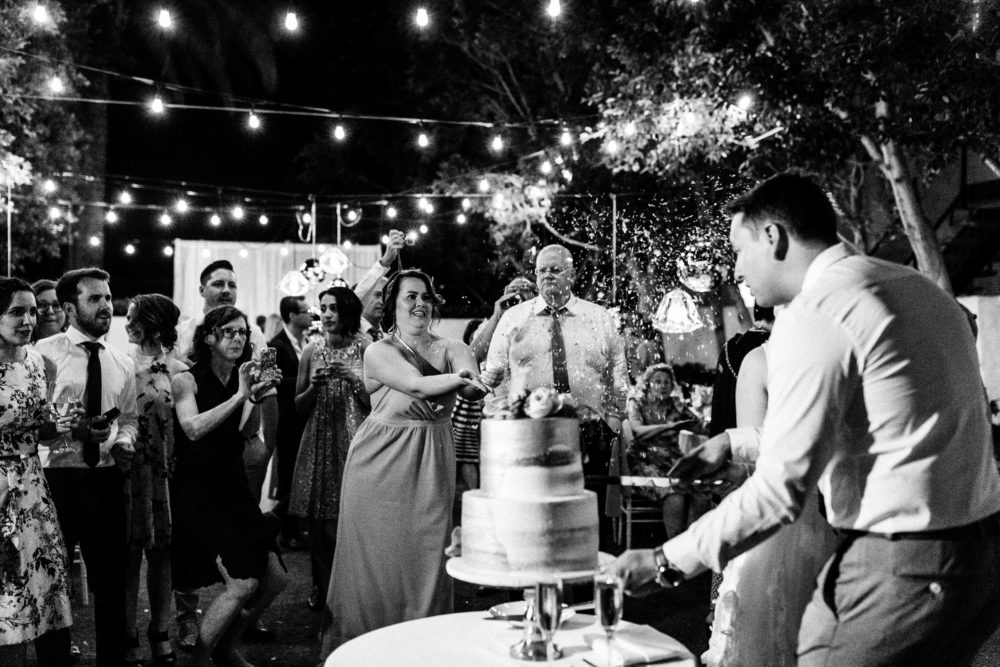 Part four of our Palm Springs wedding at the Avalon Hotel. Take a peek at our reception, see the cake & us dancing our butts off.